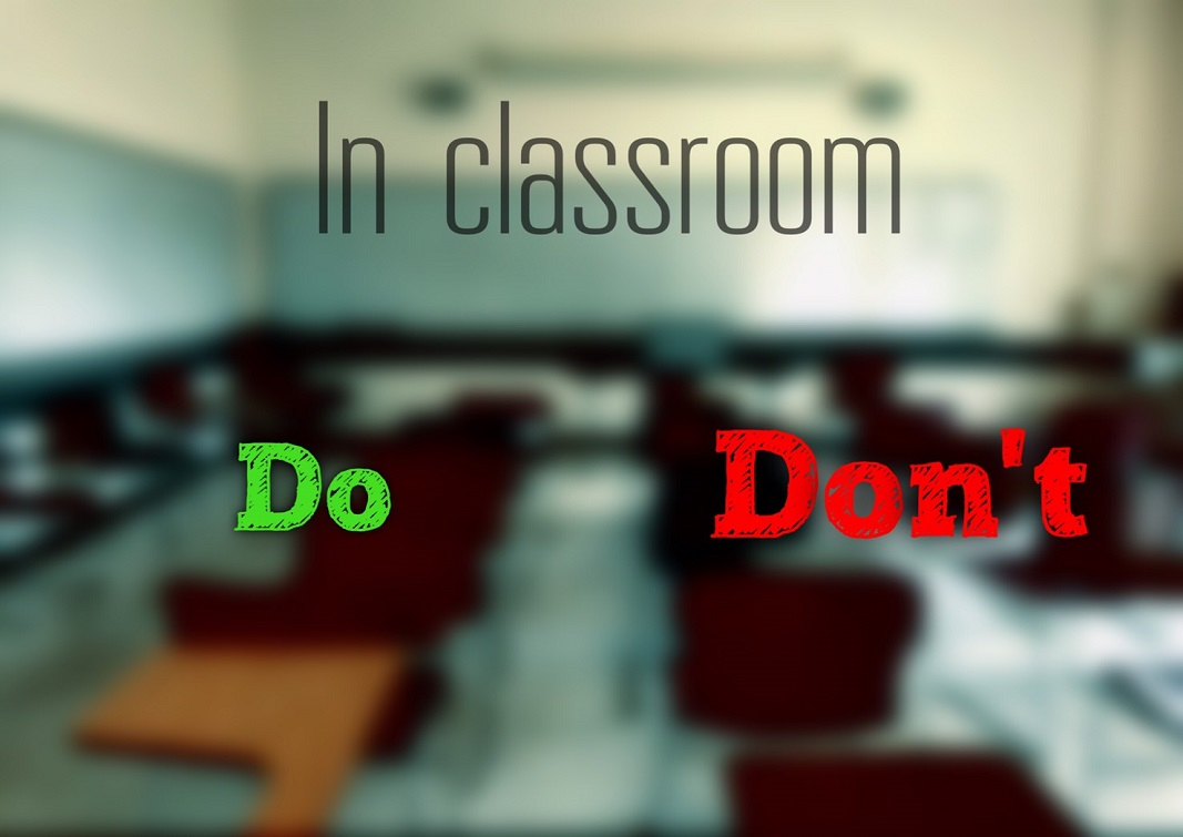 American classroom: Do and Don´t